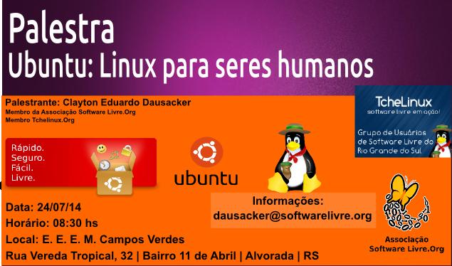 Convite Palestra Ubuntu