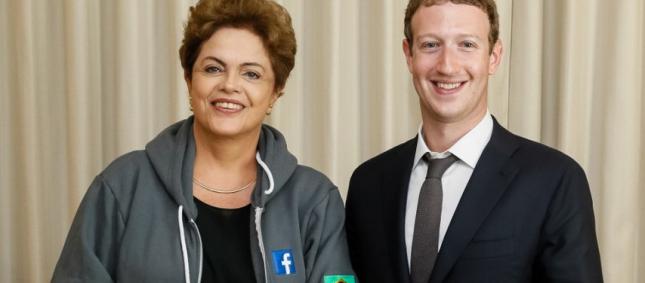 Dilma e Zuckerberg