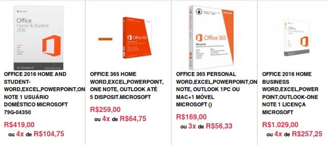 Preço LibreOffice Junho-2016